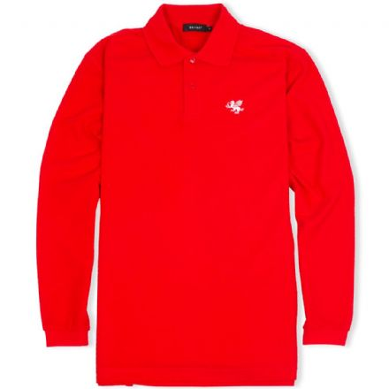 Senlak Long Sleeved Polo Shirt - Red